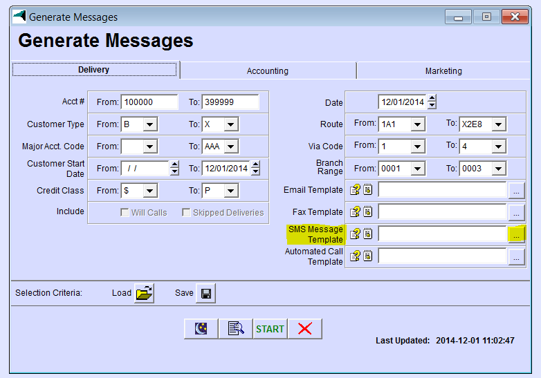how to change call rejection sms templates