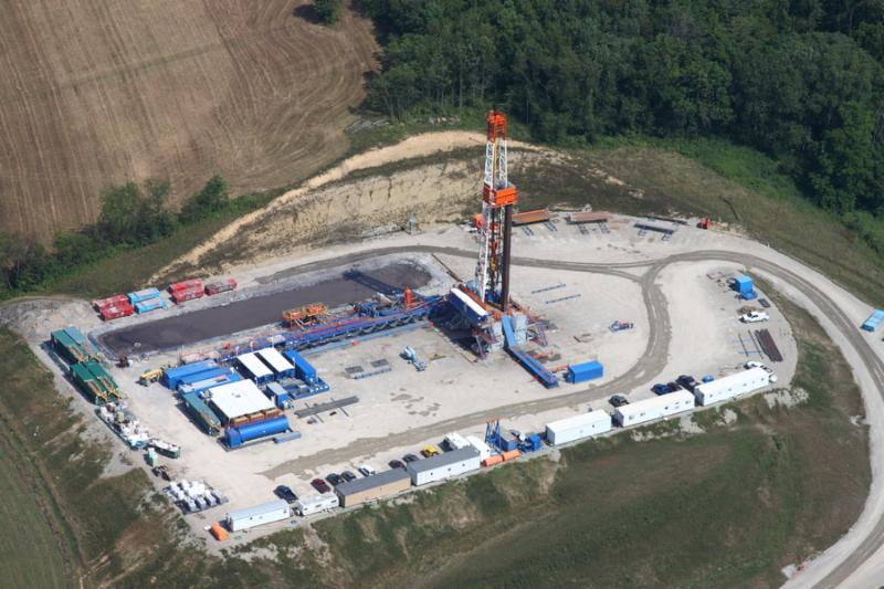 Marcellus-Shale Gas Drilling Well in Southwestern Pennsylvania