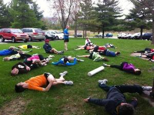 marathon stretch photo