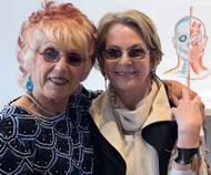 With Elizabeth Sackler at David Richard opening, Santa Fe