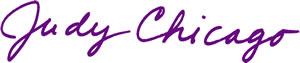 Judy Chicago signature