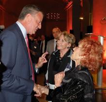 With Elizabeth Sackler and NY Mayor de Blasio