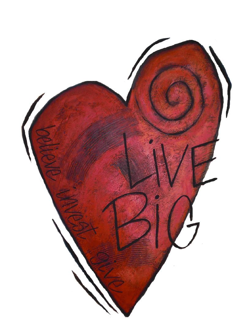 live big heart logo