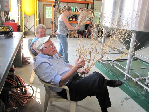 Sen. Sanders at Stateline Farm