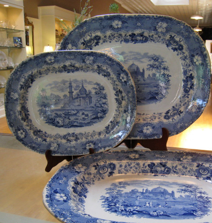 Antique English Blue & White Transferware
