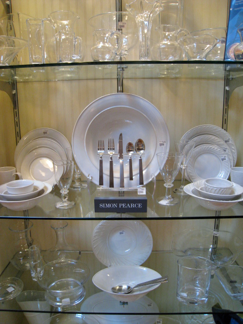 Simon Pearce dinnerware, flatware and hand made glass
