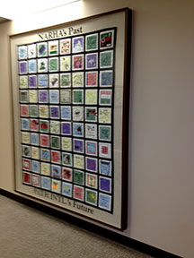 quilt on the wall