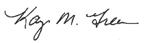 Kay Green signature