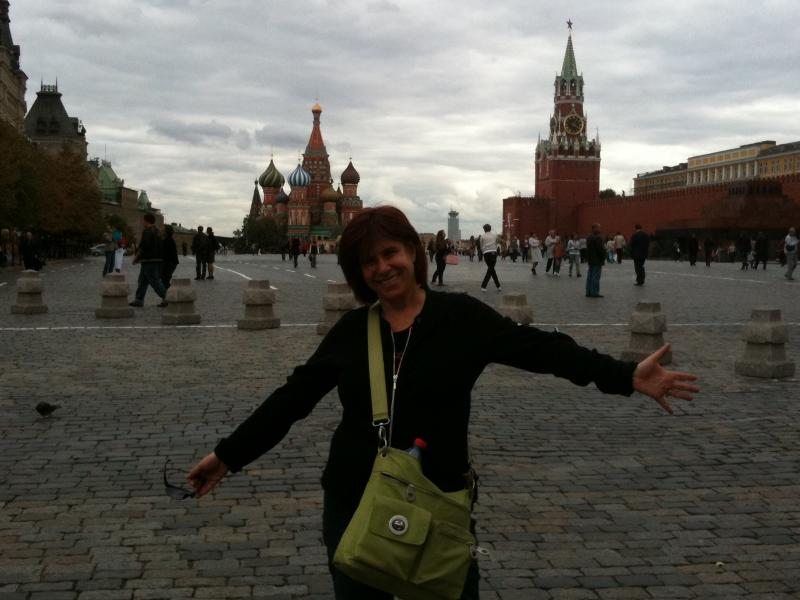 Judy in Red Square