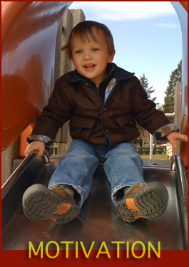 Cameron on a slide!