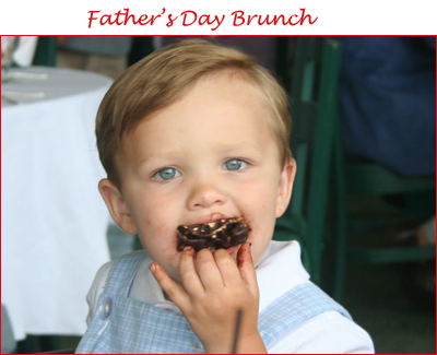 Cameron eating chocolate on Father's Day