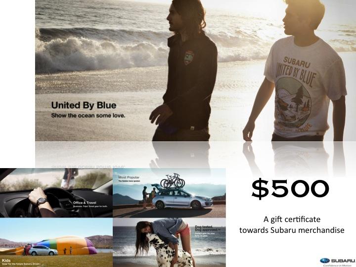 Subaru $500 Certificate