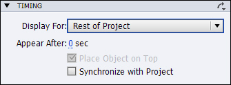 Adobe Captivate 7: Set the Timing for the Notes Interaction to Show for the Rest of the Project.