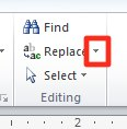 Microsoft PowerPoint: Replace drop-down menu.