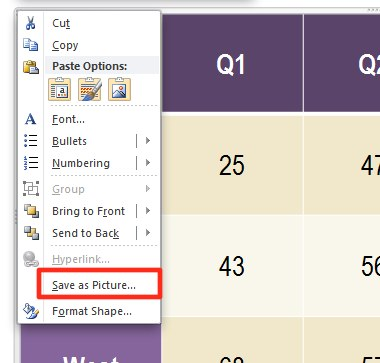 Microsoft PowerPoint: Save as Picture