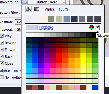 Pick Color tool.