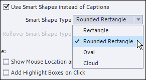 Adobe Captivate: Smart Shape Type.
