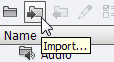 Import tool on the Library.