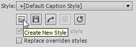 Create a new object style.