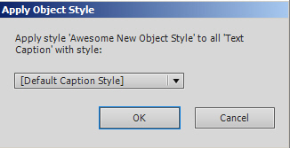 Select the style to be replaced.
