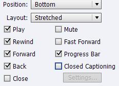 Adobe Captivate: Playbar Options