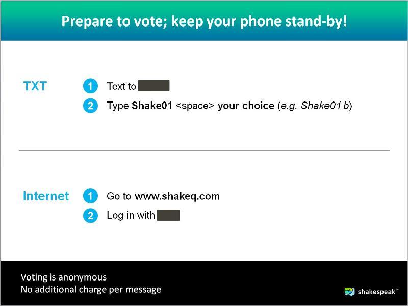 Shakespeak instructions.