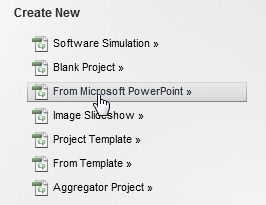 Create a project from a PowerPoint presentation.
