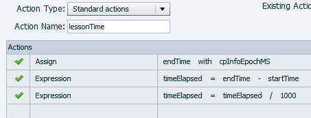 Adobe Captivate: Time elapsed Advanced Action.