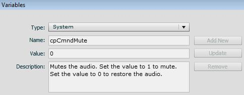 The cpCmndMute variable.