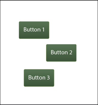 Adobe Captivate 7: Three buttons on a slide.