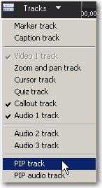 Camtasia Studio: PIP Track.