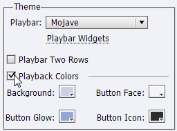 Captivate Playback Colors.