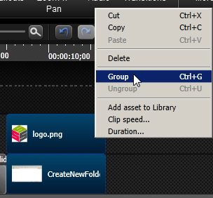 Techsmith Camtasia Studio 8: Grouping