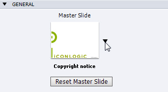Adobe Captivate: Apply a Content Master Slide to a Filmstrip slide(s).