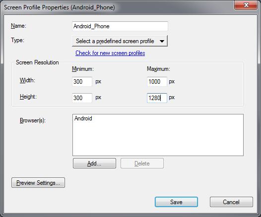 Adobe RoboHelp: Edited Screen Profile