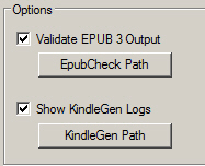 Validate the ePub and Kindle outputs.