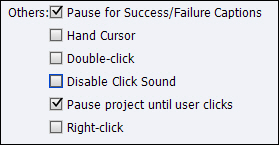 To disable the click box sound.