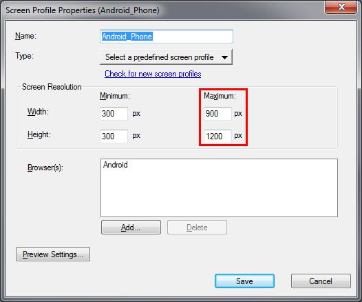Adobe RoboHelp: Android Screen Profile