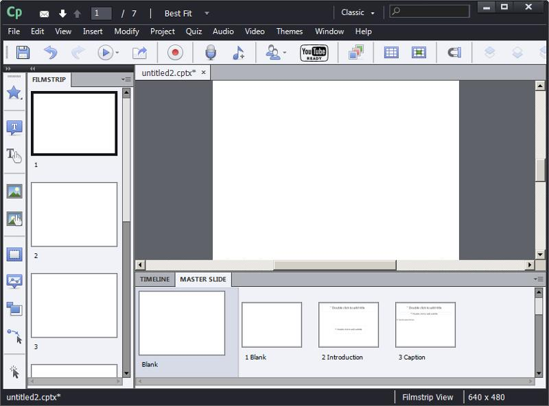 Adobe Captivate: Blank Project
