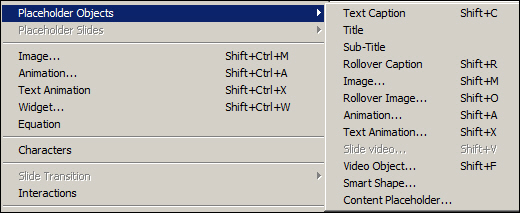Adobe Captivate: Adding Placeholder Objects