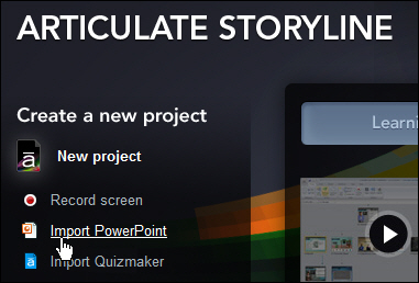 Articulate Storyline: Import PowerPoint