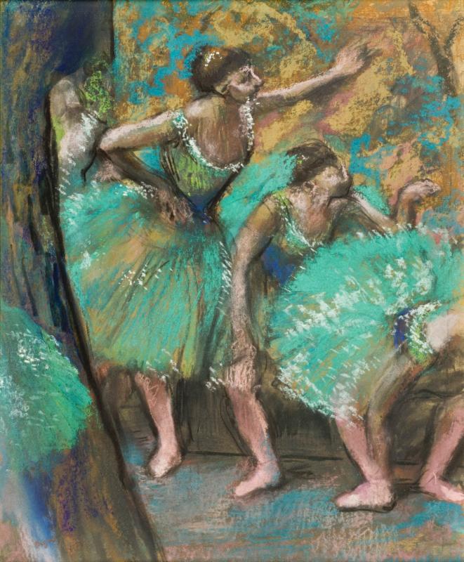 Edgar Degas pastel drawing