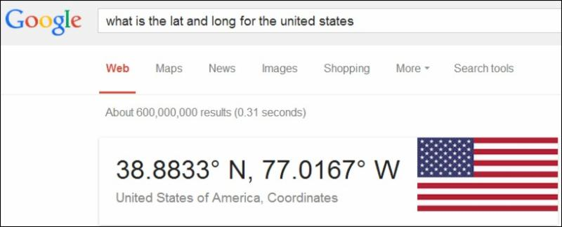 Latitude and Longitude for the US.