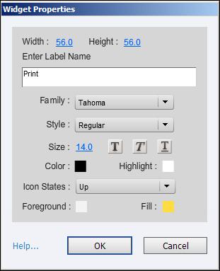 Adobe Captivate: Widget Properties