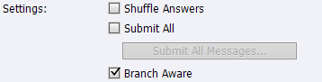 Branch Aware enabled.