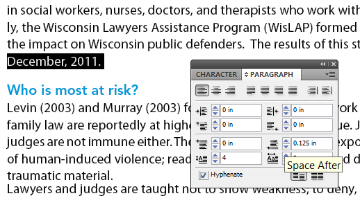 Paragraph Spacing in InDesign
