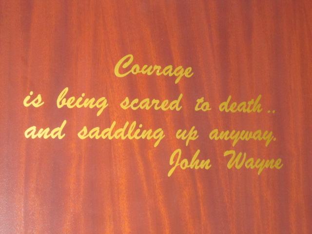Courage by John Wayne