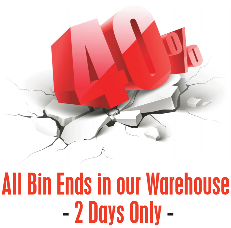 Bin Ends 40% Off Header