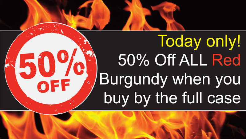 Red Burgundy 50% Off