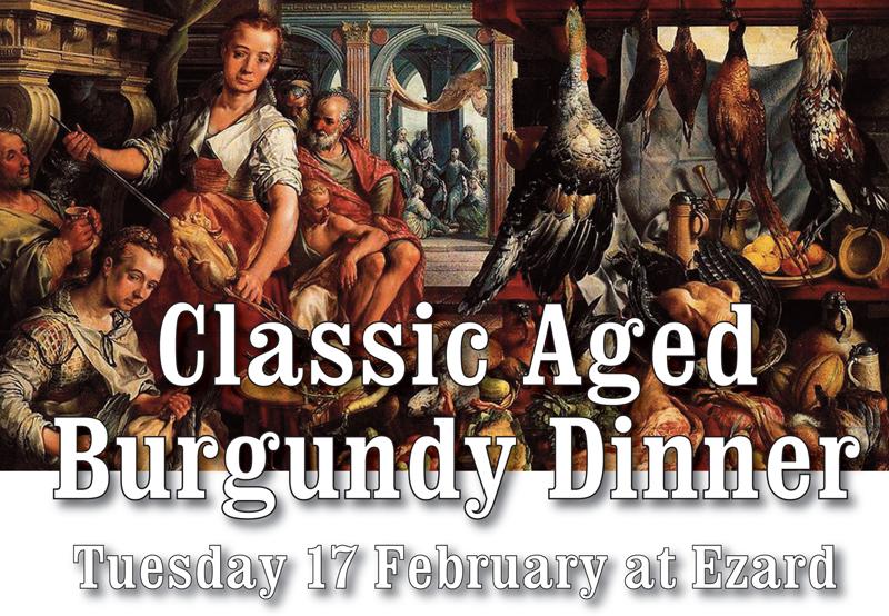 Classic aged Burgundy Dinner